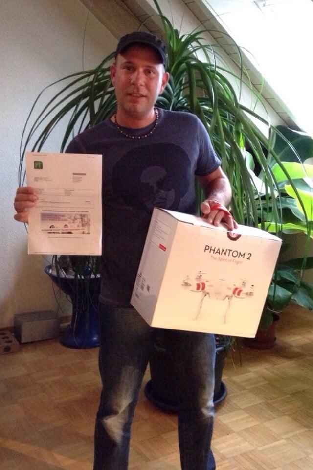 Winner 1.  Contest: Swiss DJI Phantom Quadrokopter Stories